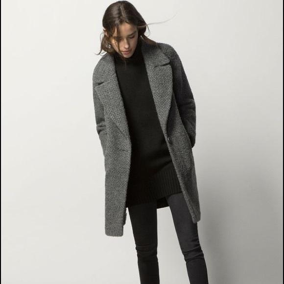 6fd1ddf7c Massimo Dutti Jackets & Coats | Grey Boucle Wool Coat | Poshmark
