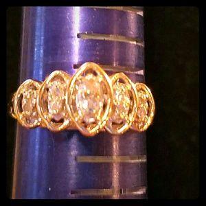 Jewelry - Brand 10kt Yellow Gold .25 Diamond Ring