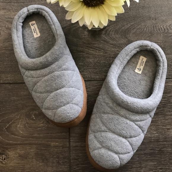 cd4184ed3 Lands' End Shoes | Nwt Lands End Kids Fleece Clog Slippers In Grey ...