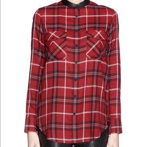 Vince Tops - Vince Red Plaid Button Front Shirt
