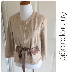 Anthropologie Jackets & Blazers - Anthropologie jacket with lace and tie by Odille 6