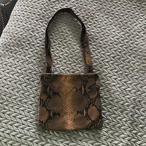 Saks 5th Avenue genuine leather snakeskin bag