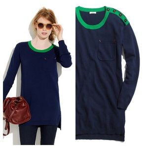 Madewell Sweaters - Madewell / Navy contrast Sweater tunic