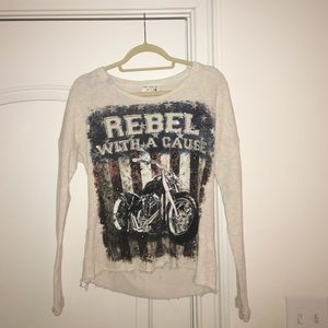 Classic Tops - Rebel with a cause longsleeve COOL BACK!