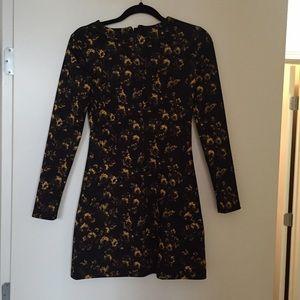Zara floral print dress.