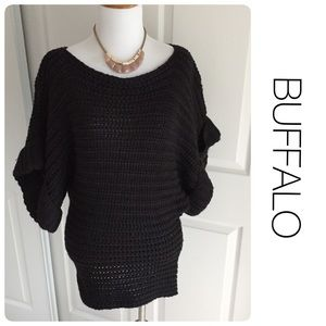 Buffalo David Bitton Sweaters - BUFFALO black sweater with batwing sleeves M