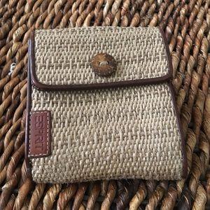 Esprit Handbags - Esprit woven beige and brown wallet