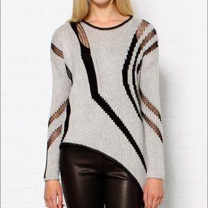 Helmut Lang Sweaters - Helmut Lang Intarsia Asymmetrical Knit Sweater