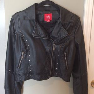 Collection B Jackets & Blazers - Faux Leather Jacket Size Medium