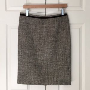 Tory Burch Dresses & Skirts - Tory Burch Tweed Velvet Trim Pencil Skirt