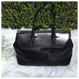 d3723b5173 Tom Ford Bags - RARE TOM FORD BLACK CALF HAIR SATCHEL BAG