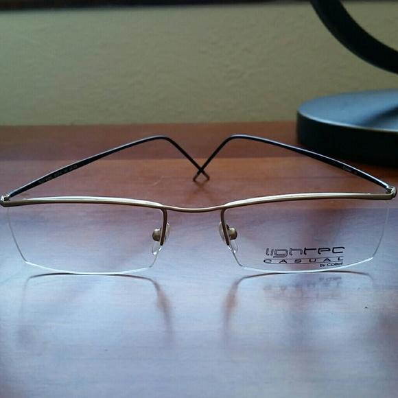 bc563d7692b6 NEW Lighted semi-rimless optical eyeglasses w case