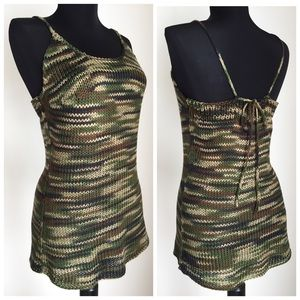 GemFOX Tops - Camo Camisole Sweater Knit Cami Camouflage M