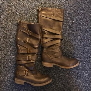 Shoes - Tall brown riding boots size 7.5