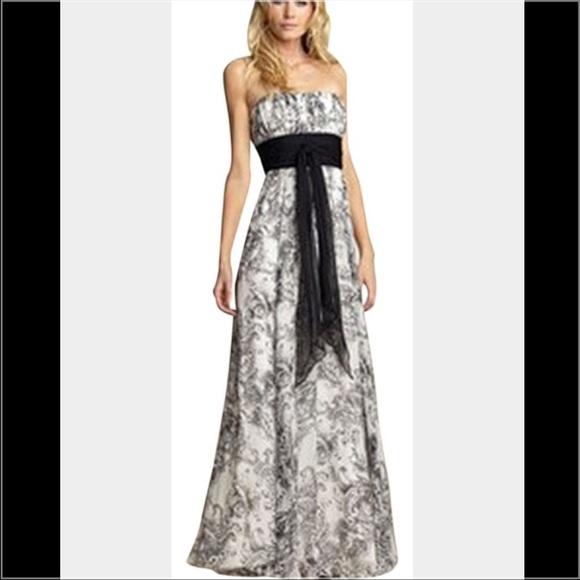 BCBGMaxAzria Dresses   Bcbg Black And White Silk Toile Dress   Poshmark