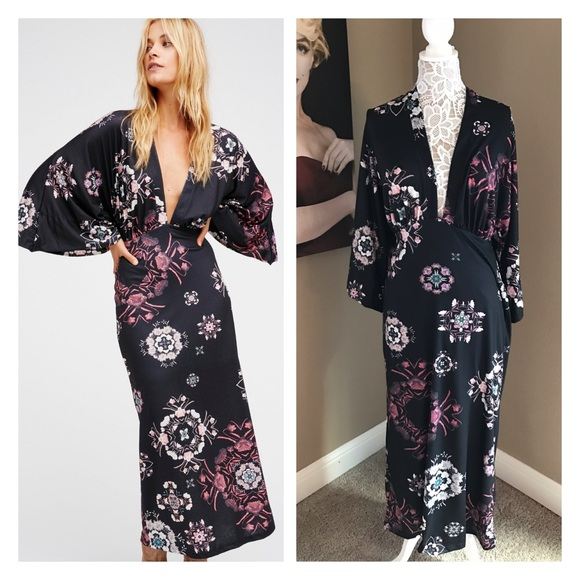 15742c528ff15f Free People Dresses   Kimono Floral Maxi Dress   Poshmark