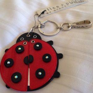 NWT alice & olivia ladybug mirror keychain