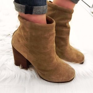 Jeffrey Campbell Shoes - ➡Jeffrey Campbell Taupe Rumble Suede Booties⬅
