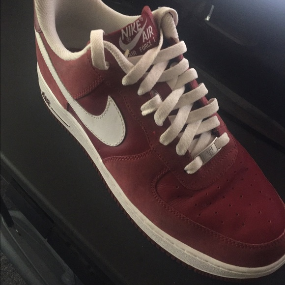 Red velvet air force 1s