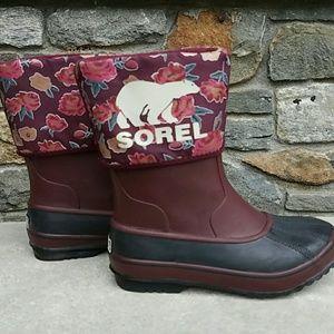 Sorel Shoes - Sorel floral cuff  boots