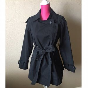 All Saints Jackets & Blazers - All Saints Black Belted Trench Coat