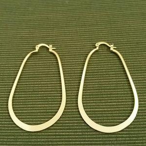 10 kt gold plated oval hoop earrings