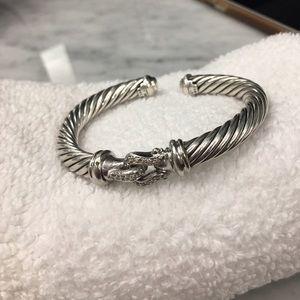 David Yurman Jewelry - David Yurman Diamond Cable Buckle Bracelet