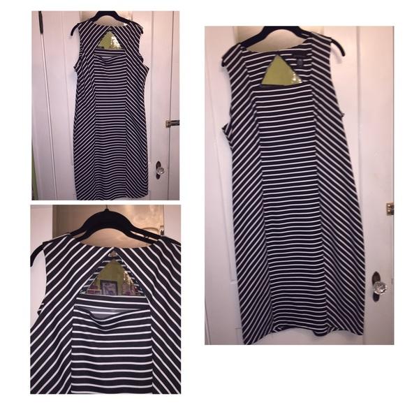 353133c6554 Ashley Stewart Dresses   Skirts - Ashley Stewart Black White Stripped Dress.  Size 16