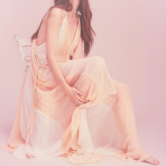 Free People Dresses - Free People Setting Sun Ethereal Maxi Dress