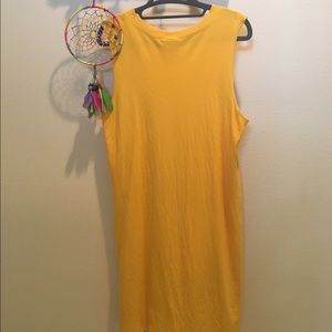 Monki Sleeves Mustard Yellow Dress