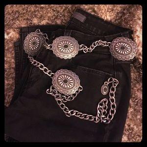 Vintage metal concho belt