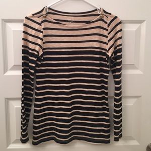 J. Crew Painter striped boat neck long sleeve tee