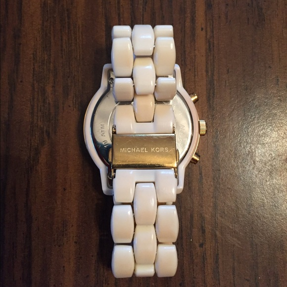 84 off michael kors accessories authentic michael kors white ceramic watch from rachele 39 s - Find porcelain accessory authentic ...