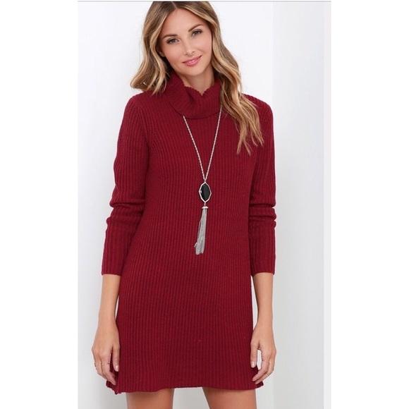 Lulu's Dresses & Skirts - Red Lulu's Sweater Dress