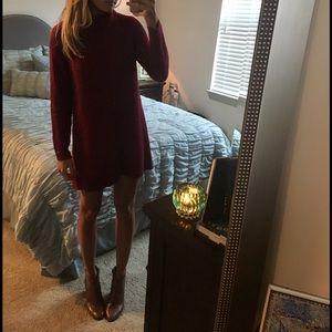 Lulu's Dresses - Red Lulu's Sweater Dress