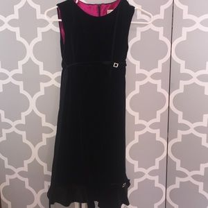Helena Other - Kids Black Velvet Dress