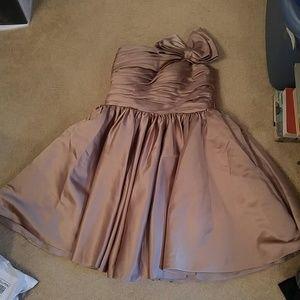 Sunvary Tan Silky Prom/Bridesmaid Dress NWT Sz 5