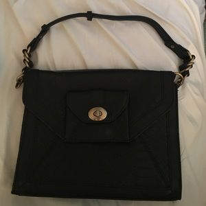 Black envelope handbag