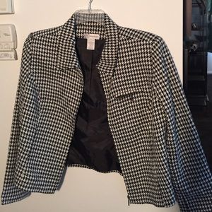 Dress Barn Jackets & Blazers - Black and white checked jacket!