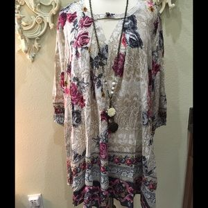 Floral tunic top/dress