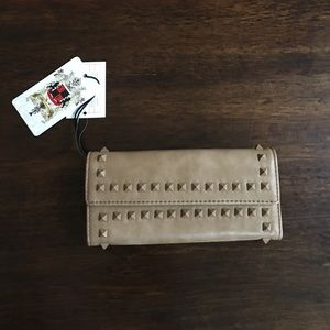 NWT Urban Expressions Light Brown Studded Wallet