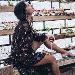 LAST CHANCE Zara embroidered floral dress/shirt