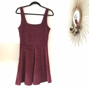 Abercrombie Stretch Velvet Swing Dress