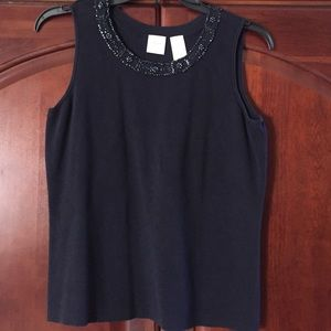 Emma James knit Navy tank top