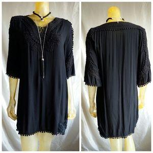 Monoreno - Crochet Trim Bohemian Dress