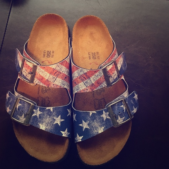 birkenstock shoes rare american flag sandals poshmark