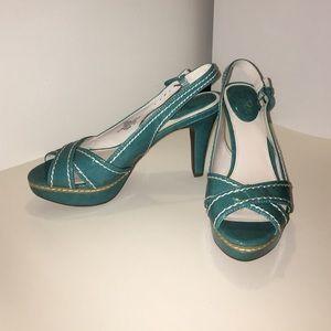 Studio Paolo Shoes - New turquoise Studio Paolo heels