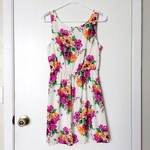 Francesca's Collections Dresses & Skirts - Francesca's ivory pink orange floral dress size S