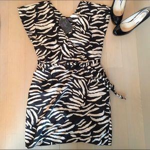 numph Dresses & Skirts - ✨NWT Zebra Print Wrap Dress✨