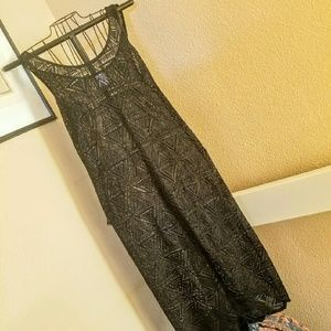 Xhilaration Dresses & Skirts - Black Sheer Open-Knit Maxi XL